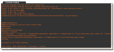 Haml build console output